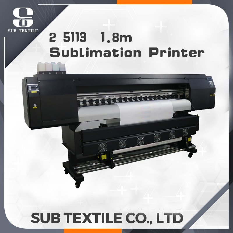 1.6m/1.8m wide sublimation printer Epson 5113 2 print head