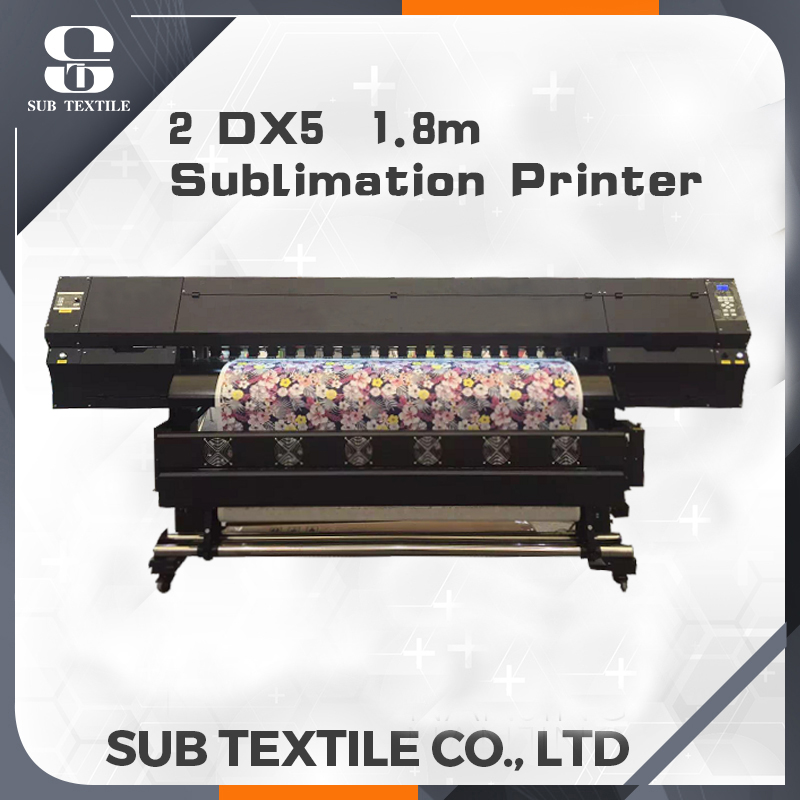 1.6m/1.8m wide sublimation printer Epson DX5 2 print head