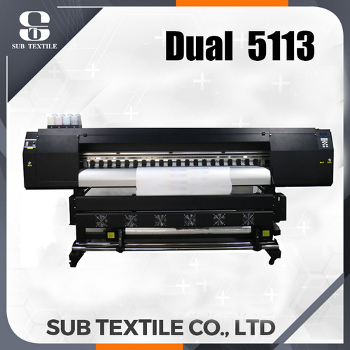 1.8m High Speed Dual DX5/5113 Sublimation Printer